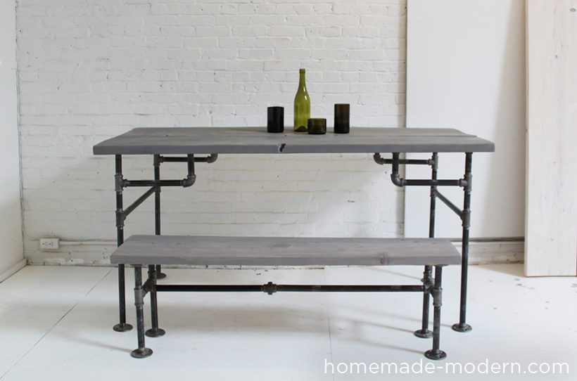 Homemade Modern Diy Ep3 Wood And Iron Table Other Options