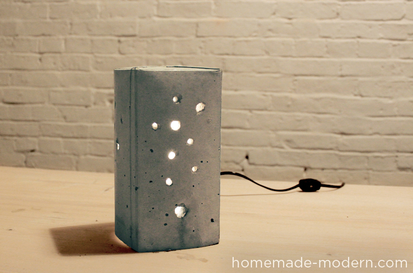 homemade modern ep6 concrete lamp. Black Bedroom Furniture Sets. Home Design Ideas
