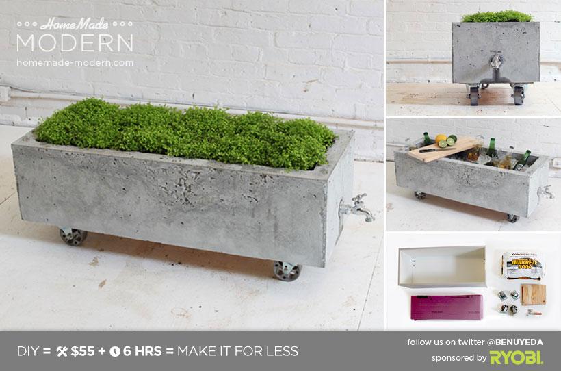 Modern Concrete Planters DIY