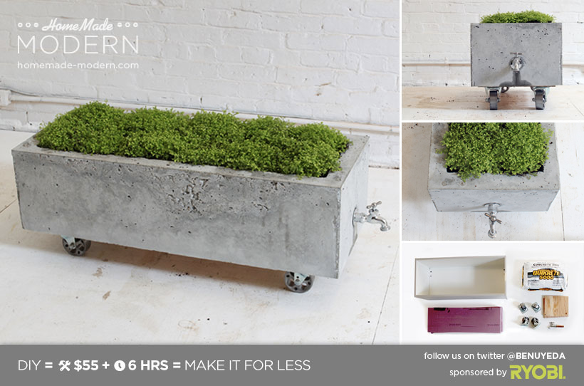 HomeMade Modern EP16 Concrete Planter