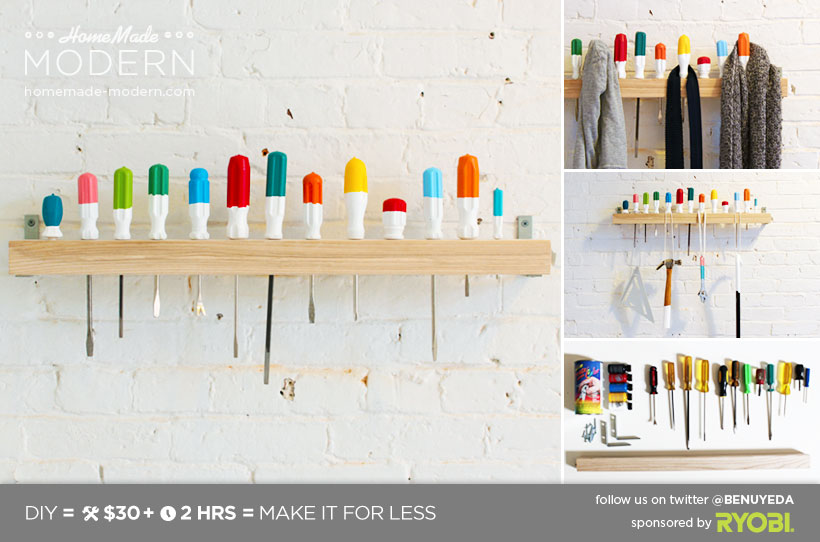 HomeMade Modern DIY EP19 Screwdriver Coat Rack Postcard