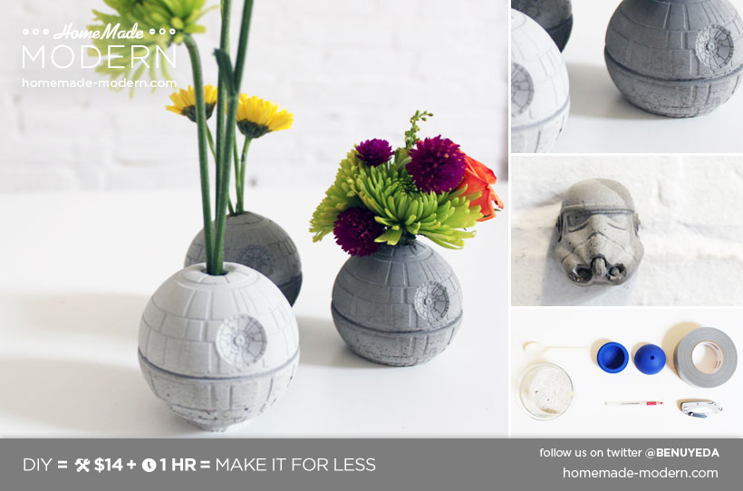 HomeMade Modern DIY EP22 The Death Star Vase Postcard