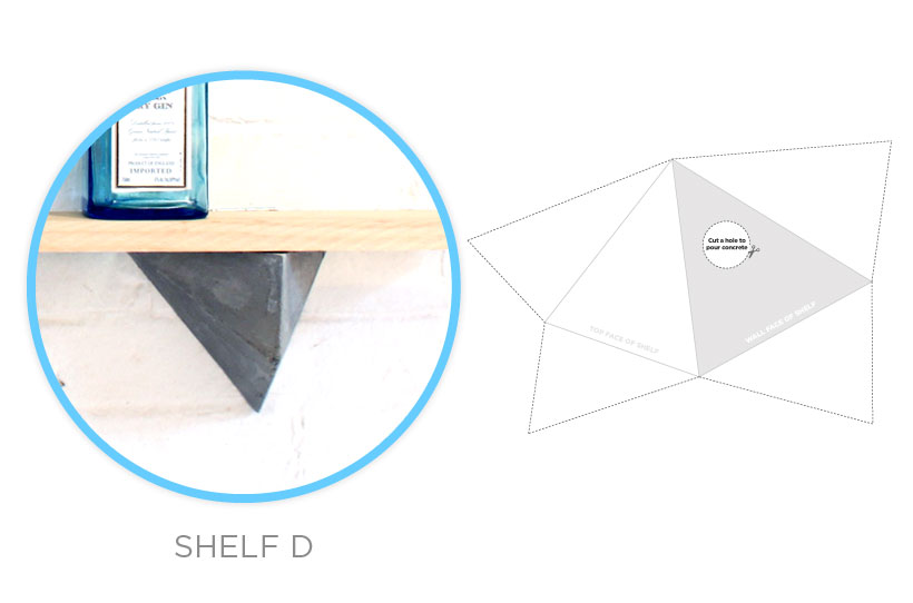 HomeMade Modern DIY EP12 Faceted Concrete Hooks Step 1