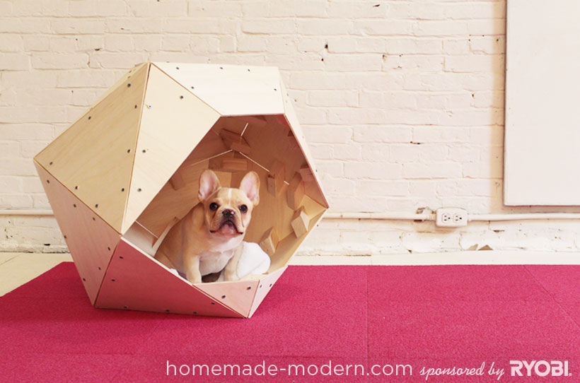 homemade modern ep13 geometric doghouse