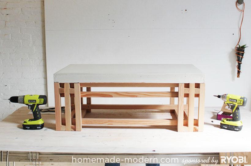 HomeMade Modern DIY EP15 Concrete + Wood Coffee Table Options