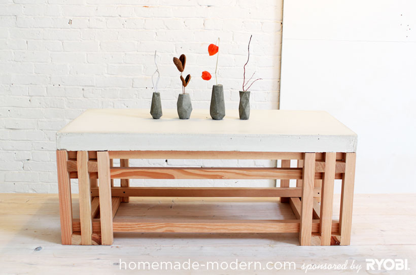 HomeMade Modern DIY EP15 Concrete + Wood Coffee Table Options
