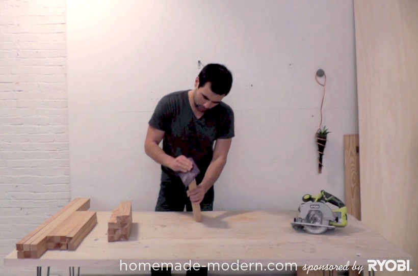 HomeMade Modern DIY EP15 Concrete + Wood Coffee Table Step 2