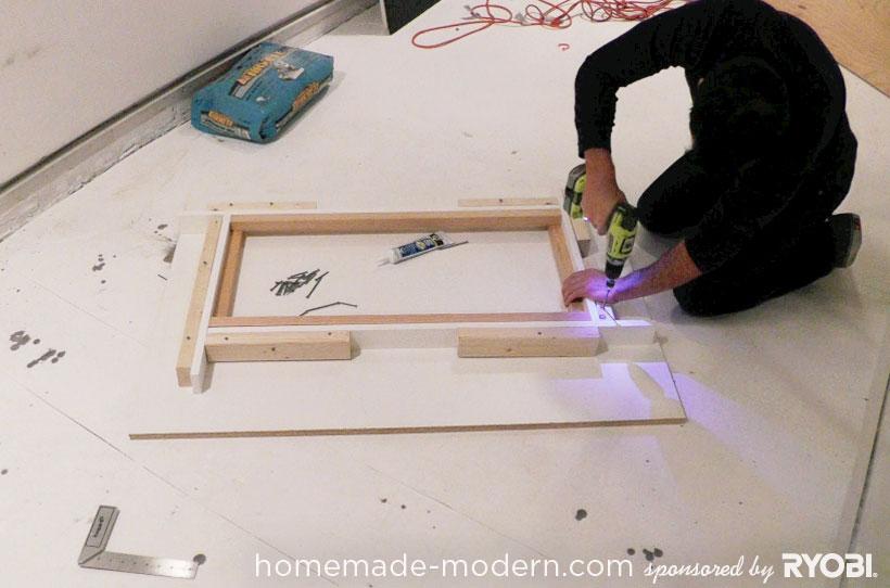 HomeMade Modern DIY EP15 Concrete + Wood Coffee Table Step 3