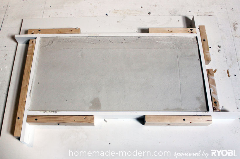 HomeMade Modern DIY EP15 Concrete + Wood Coffee Table Step 7