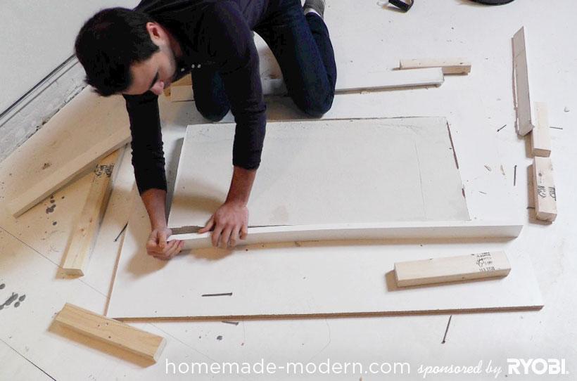 HomeMade Modern DIY EP15 Concrete + Wood Coffee Table Step 8