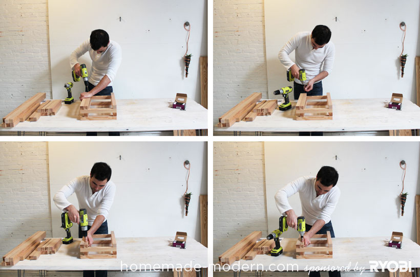 HomeMade Modern DIY EP15 Concrete + Wood Coffee Table Step 9