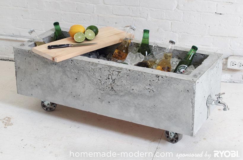 Caseiro modernos DIY EP16 Opções plantador de concreto
