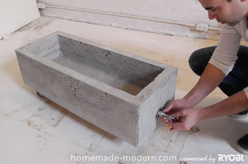 HomeMade Modern DIY EP16 Concrete Planter Step 12