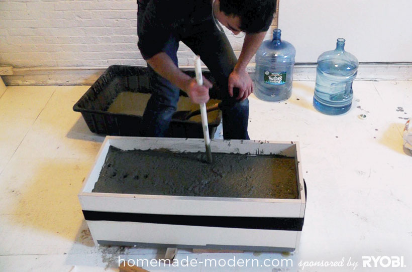 HomeMade Modern DIY EP16 Concrete Planter Step 6