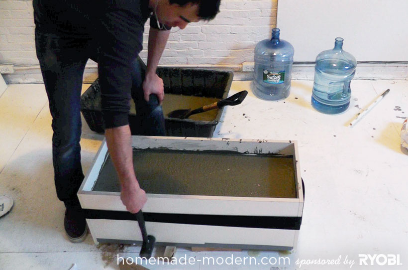 HomeMade Modern DIY EP16 Concrete Planter Step 7