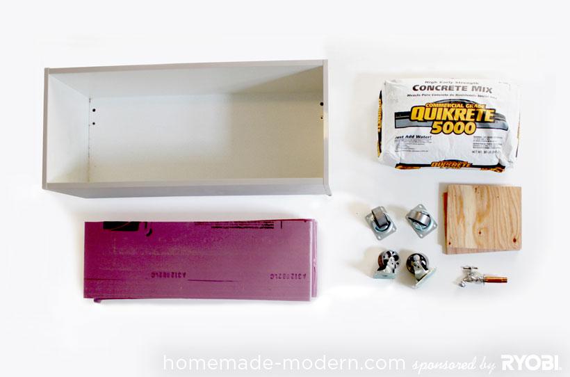 HomeMade Modern DIY EP16 Concrete Planter Supplies