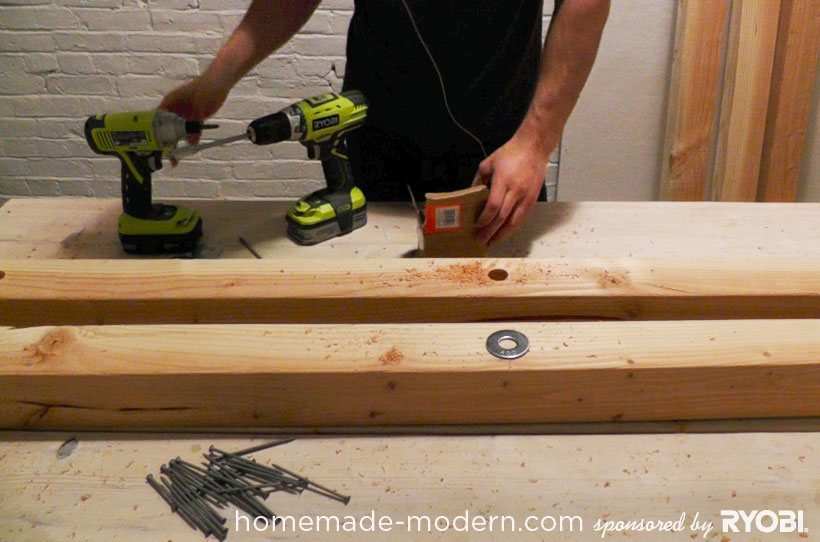 HomeMade Modern DIY EP17 Modern Rustic Mudroom Step 2