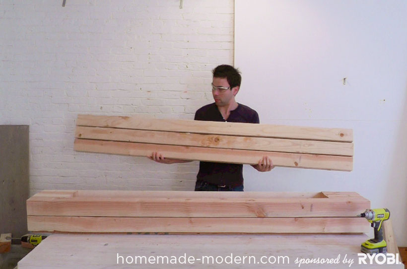HomeMade Modern DIY EP17 Modern Rustic Mudroom Step 4
