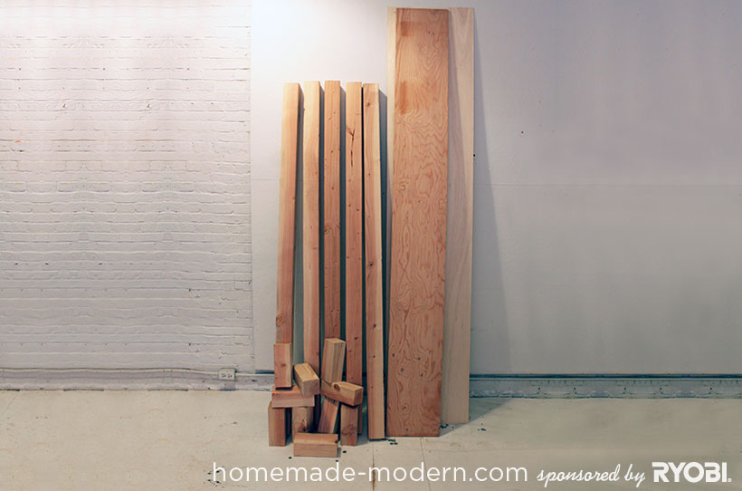 HomeMade Modern DIY EP17 Modern Rustic Mudroom Supplies