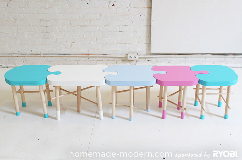 HomeMade Modern DIY EP18 Puzzle Stool Options