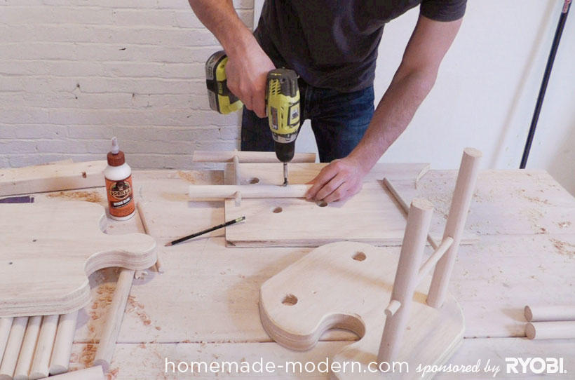 HomeMade Modern DIY EP18 Puzzle Stool Step 11