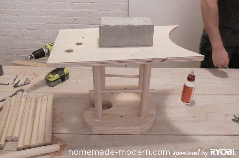HomeMade Modern DIY EP18 Puzzle Stool Step 12