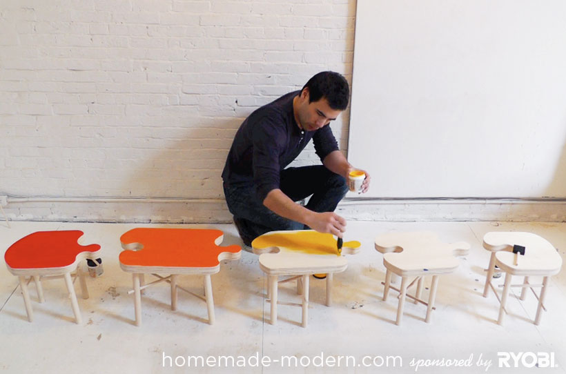 HomeMade Modern DIY EP18 Puzzle Stool Step 14