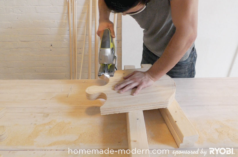 HomeMade Modern DIY EP18 Puzzle Stool Step 4