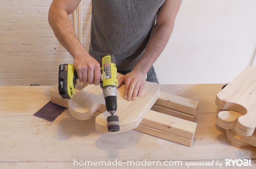 HomeMade Modern DIY EP18 Puzzle Stool Step 5