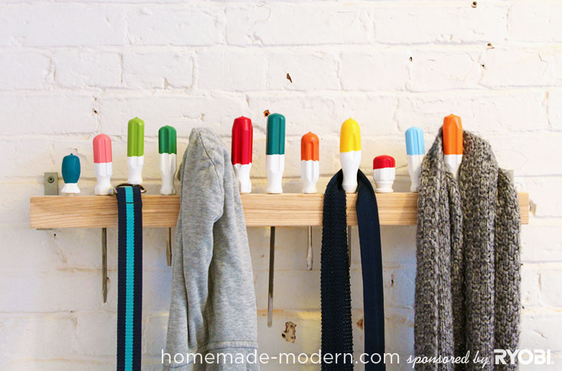 HomeMade Modern DIY EP19 Screwdriver Coat Rack Options