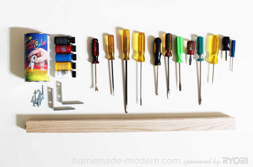 HomeMade Modern DIY EP19 Screwdriver Coat Rack Supplies