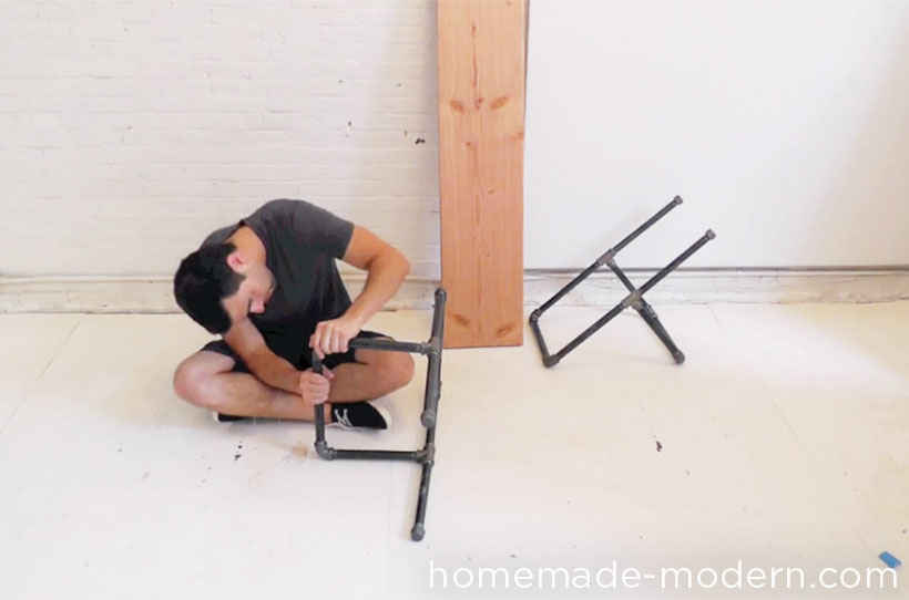 HomeMade Modern DIY Pipe Bench Step 1
