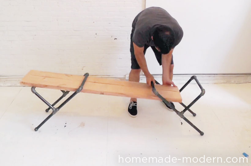 HomeMade Modern DIY Pipe Bench Step 2