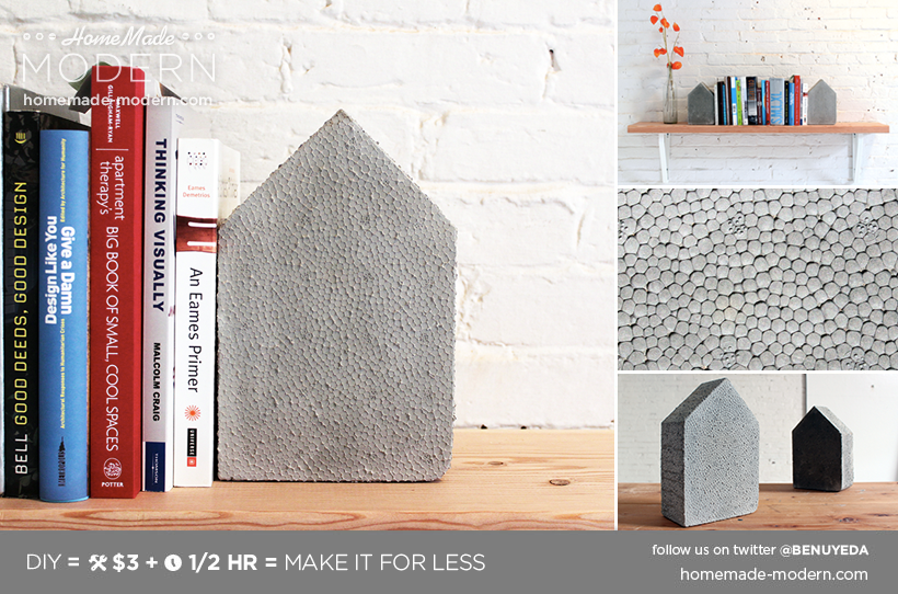 HomeMade Modern DIY EP25 Concrete Bookends Postcard