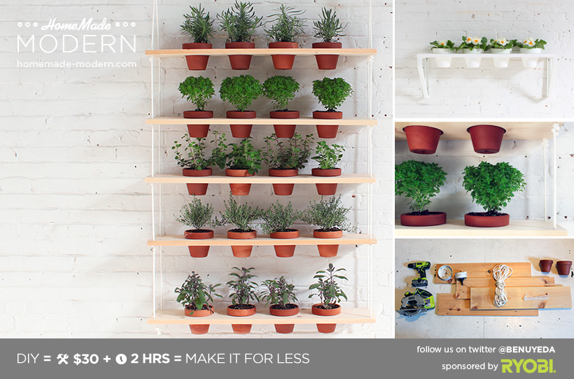 Hanging Herb Garden Ideas homemade modern ep29 hanging garden
