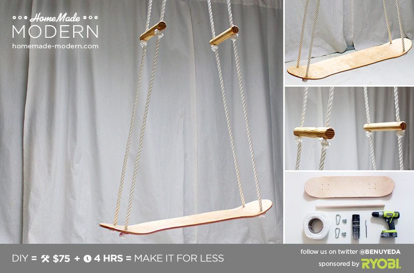 HomeMade Modern DIY The Skate Swing Postcard