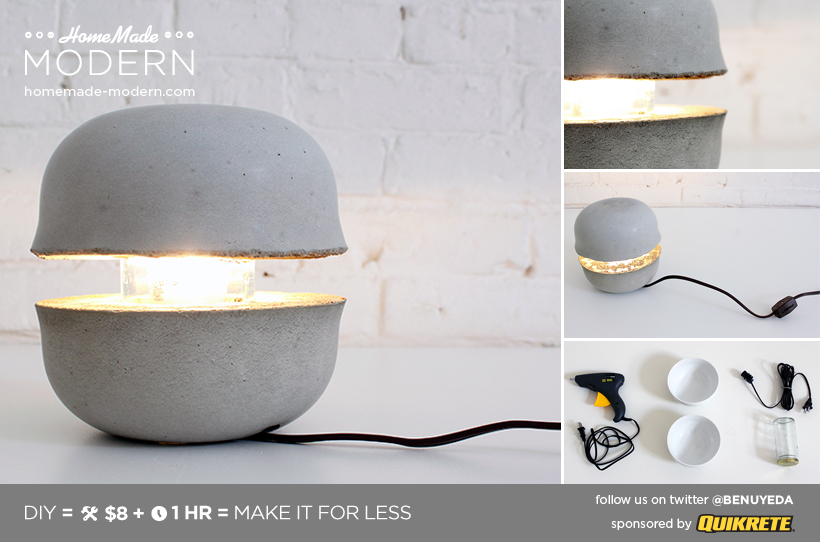 homemade modern ep36 concrete bowl lamp. Black Bedroom Furniture Sets. Home Design Ideas