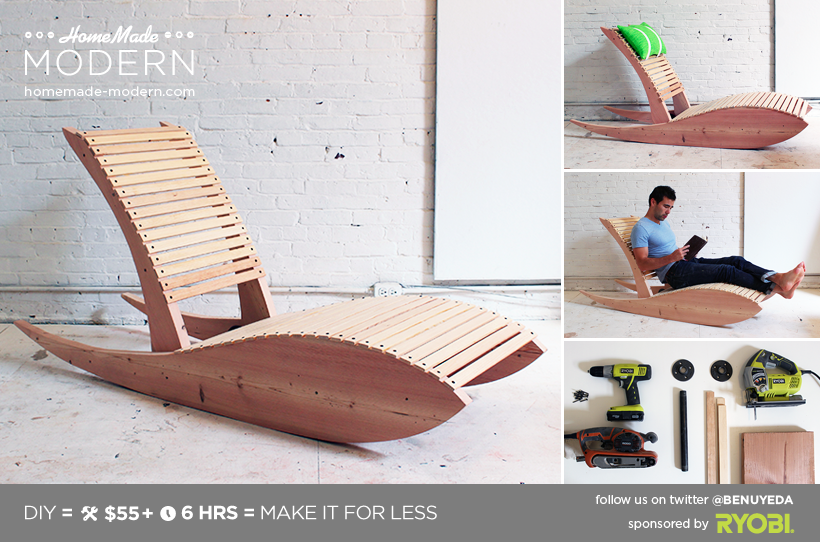 HomeMade Modern DIY Lounge Chair 1.0 Postcard