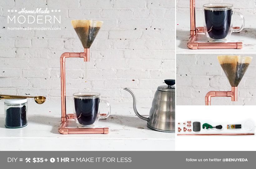 HomeMade Modern DIY Copper Coffee Maker Postcard