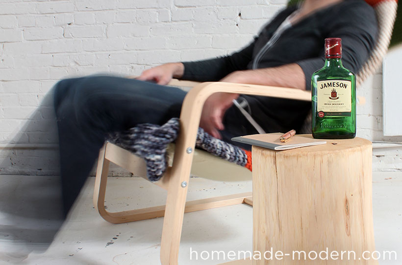 HomeMade Modern DIY Log End Table Options