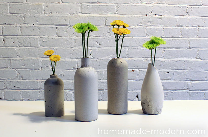 HomeMade Modern DIY EP27 Concrete Vases Options