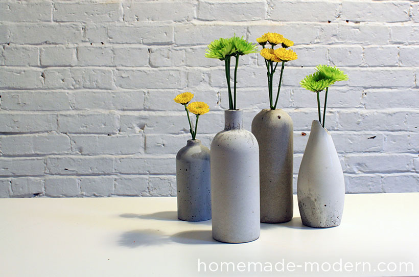 ep27 concrete vases homemade modern. Black Bedroom Furniture Sets. Home Design Ideas
