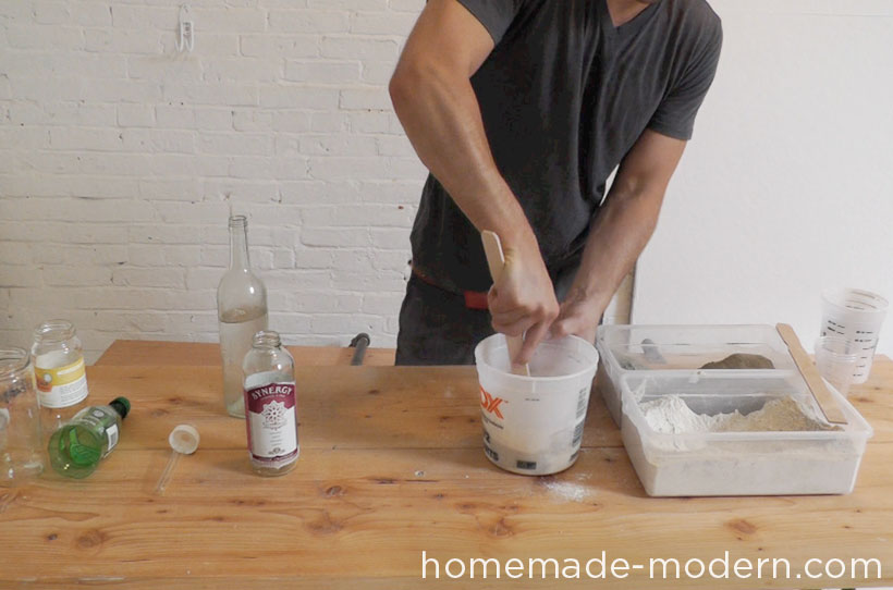 HomeMade Modern DIY EP27 Concrete Vases Step 3