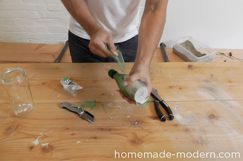 HomeMade Modern DIY EP27 Concrete Vases Step 4