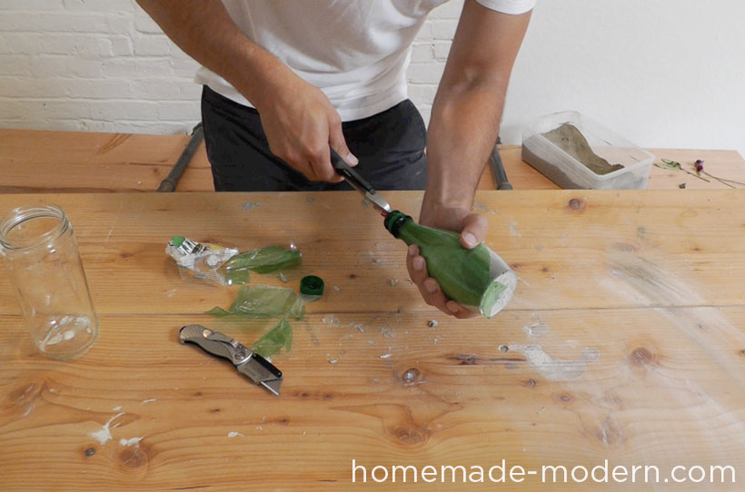 HomeMade Modern DIY EP27 Concrete Vases Step 5
