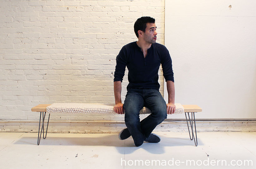 HomeMade Modern DIY Wood and Wool Bench Options