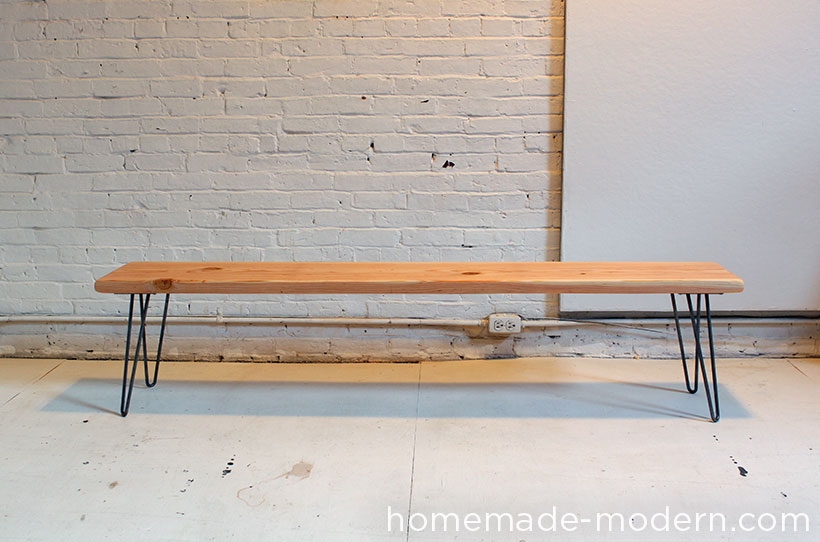 Homemade Modern Wood Wool Bench