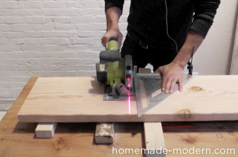 HomeMade Modern DIY EP28 Wood and Wool Bench Step 1