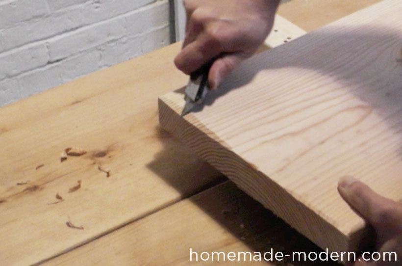 HomeMade Modern DIY EP28 Wood and Wool Bench Step 2