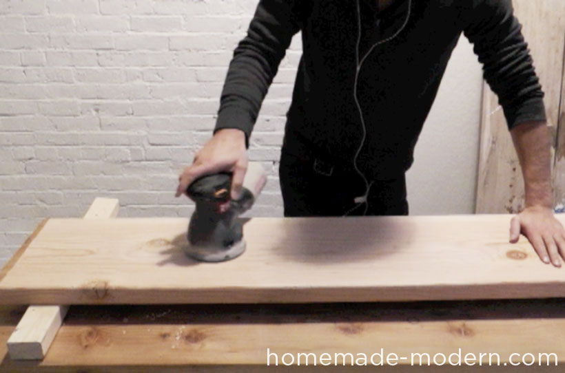 HomeMade Modern DIY EP28 Wood and Wool Bench Step 3